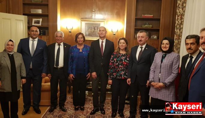 Palancıoğlu  Büyükelçi ile görüştü
