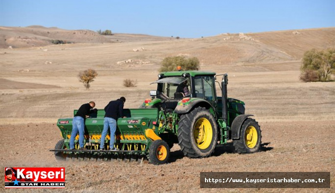 Ekmeklik buğday yeni çeşit deneme ekimi yapıldı