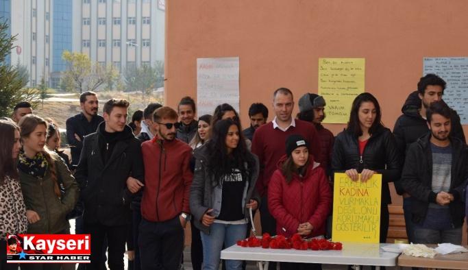 ERÜ'de ''Kadına Şiddete Hayır'' etkinliği