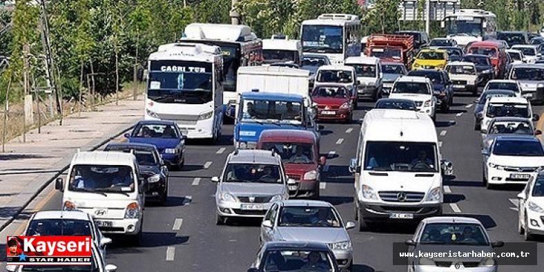 Kayseri'de motorlu kara taşıt sayısı 380 bine ulaştı
