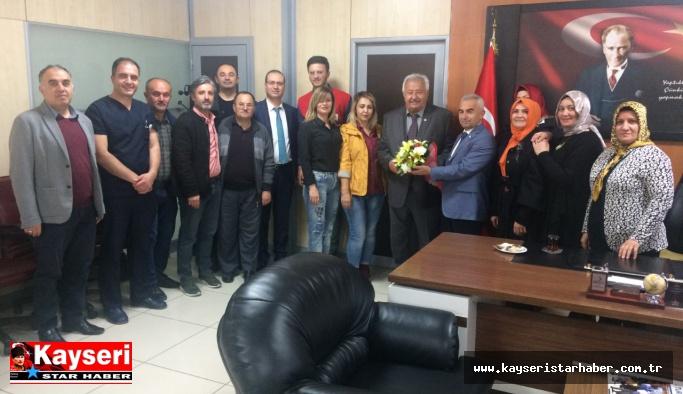 Kızılay Talas Şubeden Uzandaç'a 'vefa' ziyareti
