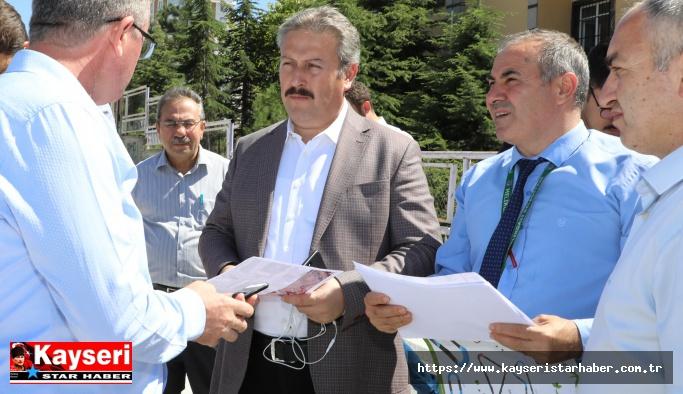 Sivas Caddesi'ne seri ulaşım için Melikgazi desteği