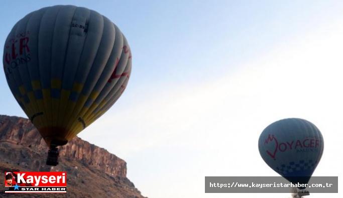 Soğanlı'da ilk kez sıcak hava balonları havalandı