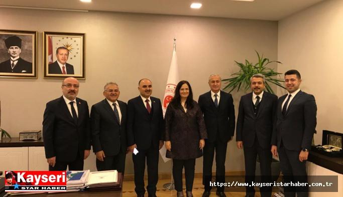 Ankara'da, Kayseri Üniversitesi'nin yer seçim komisyonu toplandı