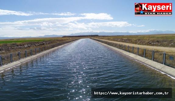 DSİ Kayseri'de 356 bin dekar zirai araziyi sulamaya açtı