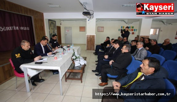 Hacılar'da güvenlik ve muhtarlar toplantısı