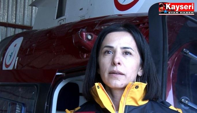 Kırsaldaki hastaların imdadına hava ambulansı yetişti