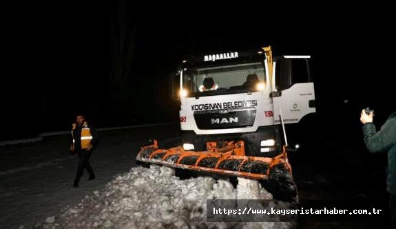 Belediyeler kar mesaisi yaptı