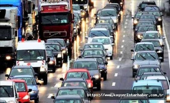 Motorlu kara taşıtı sayısı 23 milyonu geçti