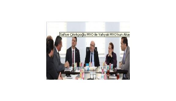 Safiye Çıkrıkçıoğlu MYO ile Yahyalı MYO'nun Akademik Kurul toplantıları yapıldı