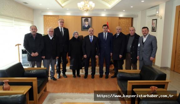 Vali Günaydın, Şehit ve gaziler derneği yeni yönetimini kabul etti