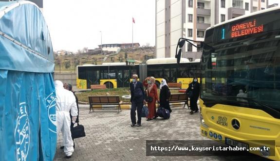 315 Umreci Kayseri'de 'virüs'e karşı Yurtta karantinaya alındı