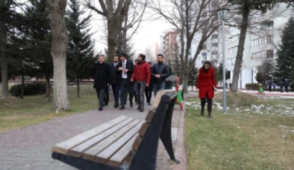 Alparslan parkı yenileniyor