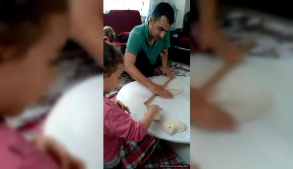 Evde kalan babaların görüntüleri gülümsetti