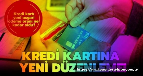 Kredi kartı asgari ödemesine yeni düzenleme