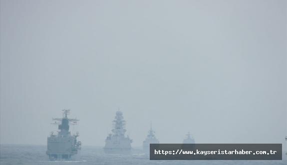 NATO Daimi Deniz Görev Grubu-2 Unsurları ile TCG FATİH Fırkateyni ve TCG PREVEZE Denizaltısı Arasında İcra Edilen Geçiş Eğitimleri