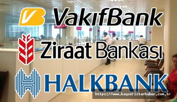 Ziraat, Halkbank ve Vakıfbank'tan vatandaşlara 6 ayı geri ödemesiz 36 ay eşit taksitte kredi