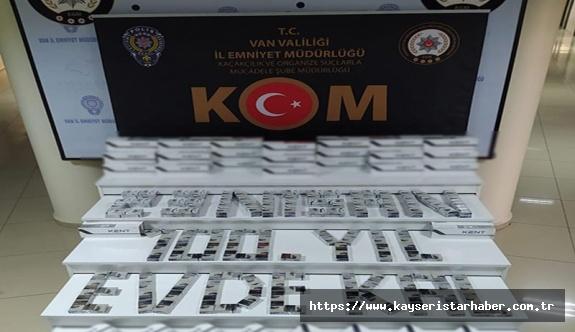 17 bin 500 paket kaçak sigara ele geçirildi