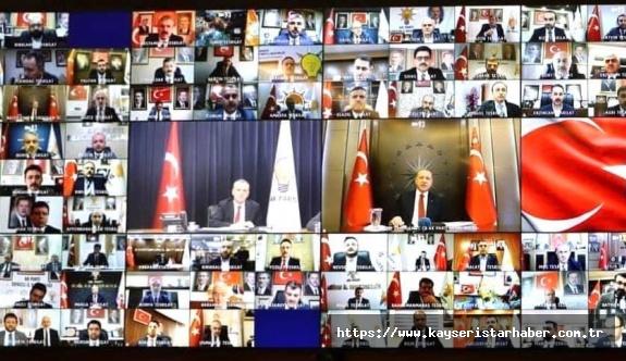 AK Partide video konferanslı  Genişletilmiş İl Başkanları toplantısı