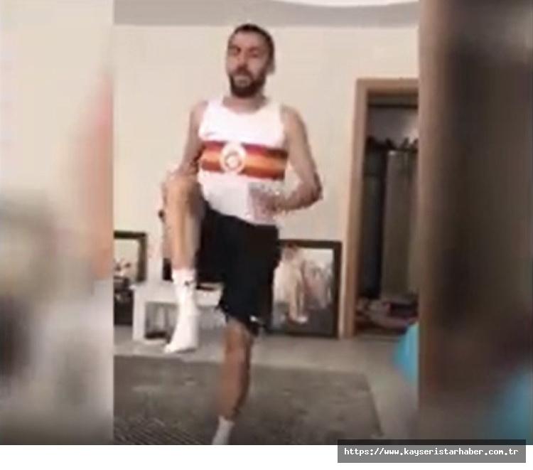 Atletizm sporcuları evde çalışıyor