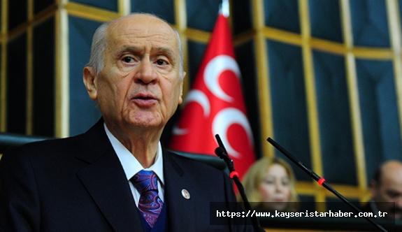 """Bahçeli: """"Türk devleti muvaffakiyetle her güçlüğün üstesinden gelmeye muktedirdir"""""""