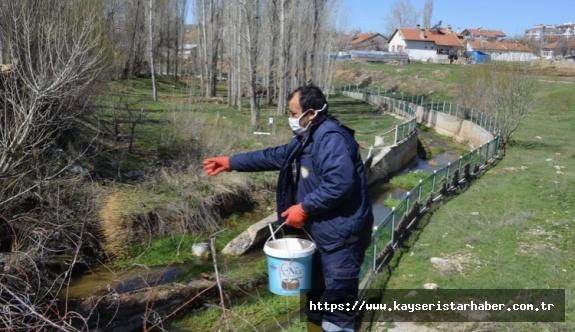 Bünyan'da haşerelere karşı savaş