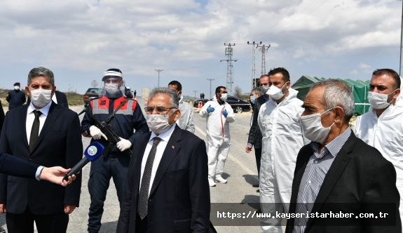 Büyükkılıç Akmescit Mahallesi'nde: Belediyelerimiz her türlü desteği veriyor