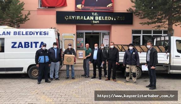 Çayıralan belediyesi gıda ve maske dağıttı