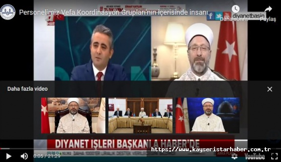 """DİB Ali Erbaş, """"Ramazan'da camiler açık olacak mı?"""" sorusunu yanıtladı"""