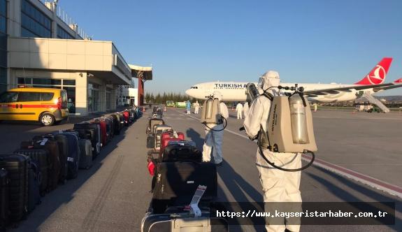 Etiyopya'dan getirilen 289 Türk vatandaşı, Kayseri'de karantinaya alındı