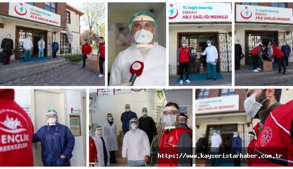 Gençlik merkezlerinde koruyucu maske üretimi