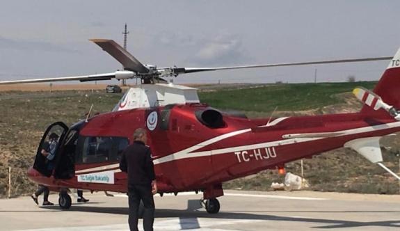 Hava ambulansı Felahiye'deki hasta için havalandı