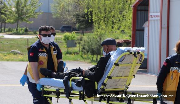 'Hidronefroz' hastasının imdadına hava ambulansı yetişti