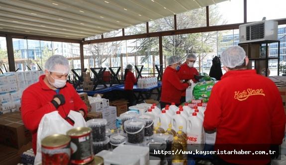 İhtiyaç sahibi ailelere gıda desteği