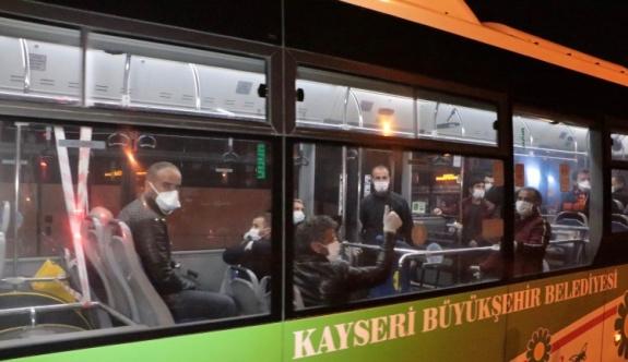 Irak'ta kalan işçiler Kayseri'ye getirildi