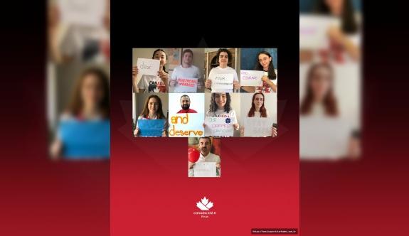 Kanada Okulları Florya Kampüsü öğrencilerinden sağlık çalışanlarına 23 Nisan hediyesi