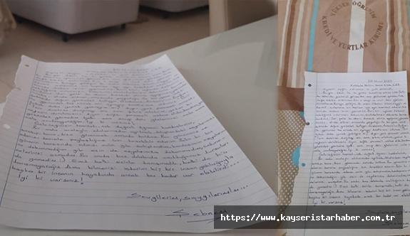 Karantinadaki vatandaştan duygulandıran veda mektubu