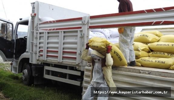 Karantinaya alınan çiftçilerin ihtiyaçları karşılandı