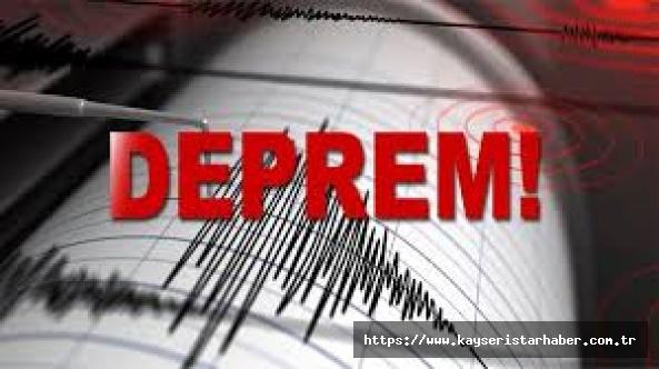 Kayseri'de 4 hafif deprem