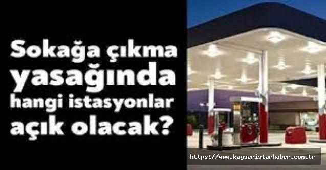 Kayseri'de üç gün Nöbetçi Akaryakıt İstasyonları Listesi