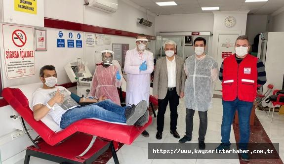 Kızılay Kayseri'de, bağışçılardan immün plazma almaya başladı