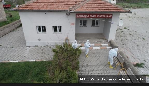 Kocasinan'da dezenfekte seferberliği sürüyor