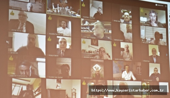 KTO'da toplantı telekonferans yöntemiyle yapıldı