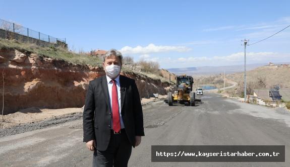 Melikgazi'de temizlik ve Kayabağ'da altyapı sonrası asfalt