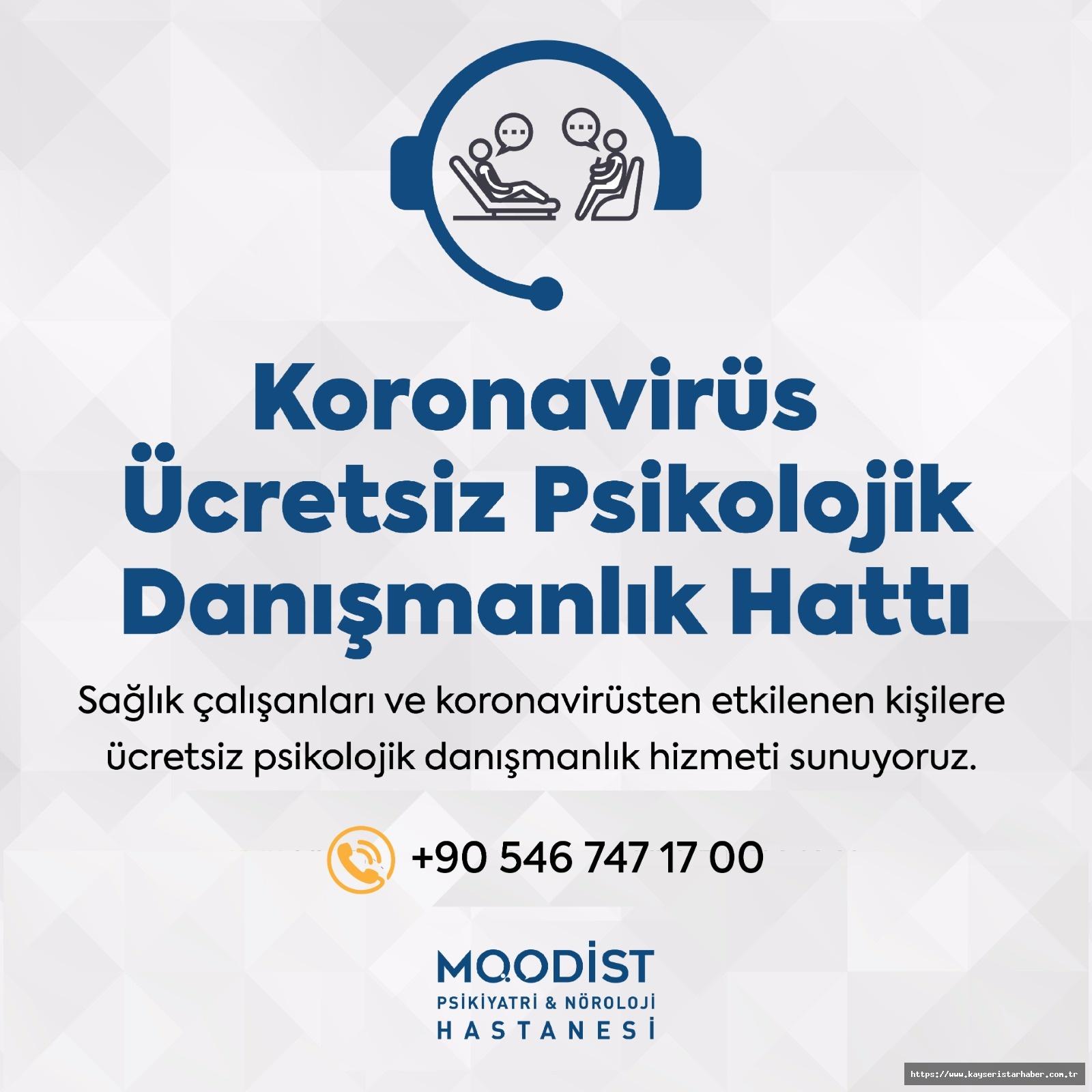 Moodist'ten Koronavirüs Ücretsiz Psikolojik Danışmanlık Hattı