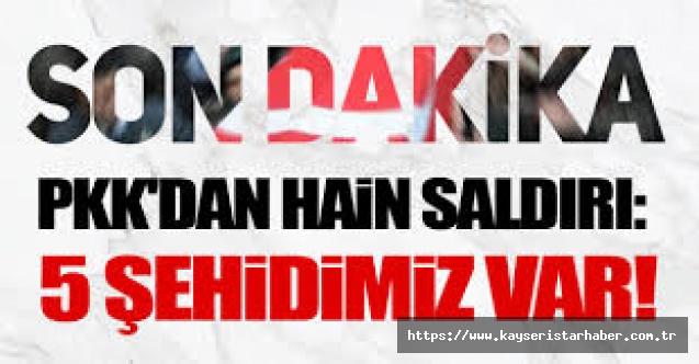 PKK'dan hain saldırı: 5 sivil Şehit oldu