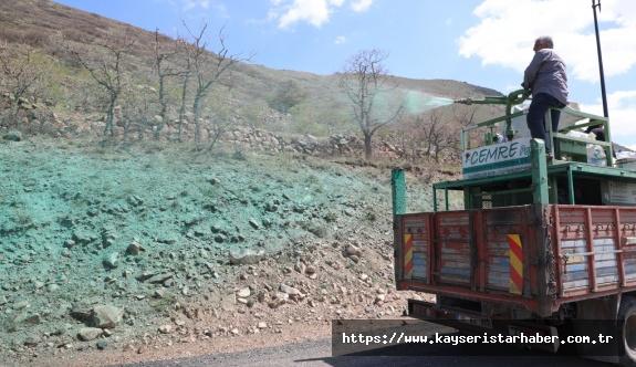 Talas'ta dört bir koldan yeşil alan çalışması