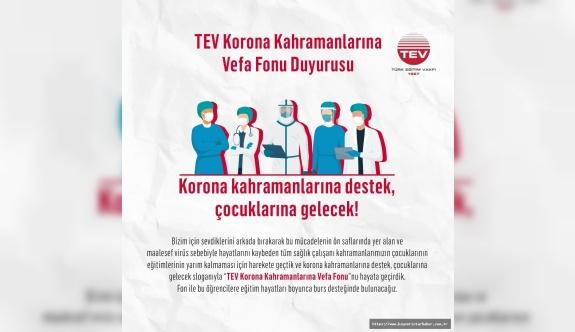 TEV; Korona Kahramanlarına Vefa Fonu  Vefat Eden Sağlık Çalışanlarının Çocuklarına Umut Olacak!