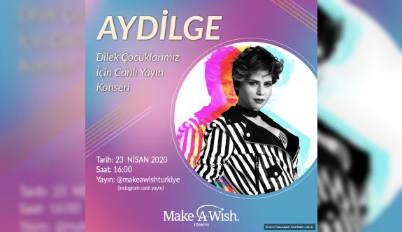 Ünlü müzisyen Aydilge, 23 Nisan'da Bir Dilek Tut instagram hesabından canlı konser verecek