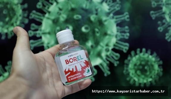 Yerli ve milli bor katkılı el dezenfektanı BOREL haftaya raflarda